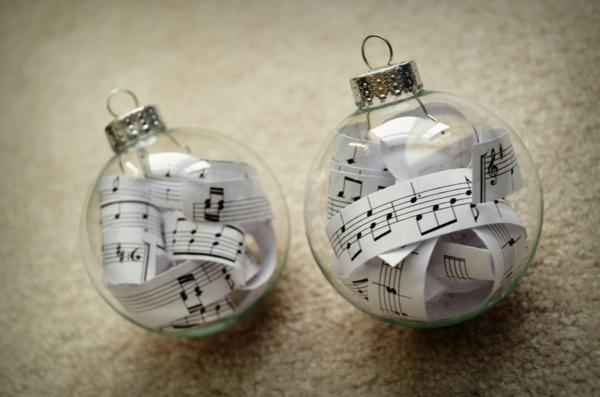 weihnachtliches basteln weihnachtsdeko ideen durchsichtige kugeln