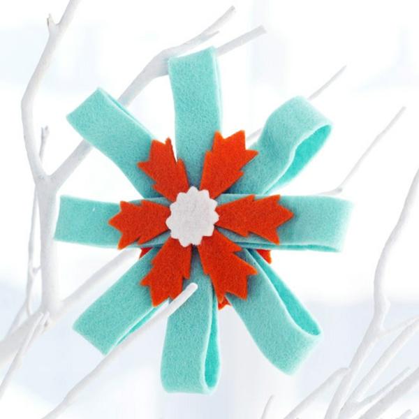 weihnachtsbastelideen bastelideen für weihnachten aus filz stern