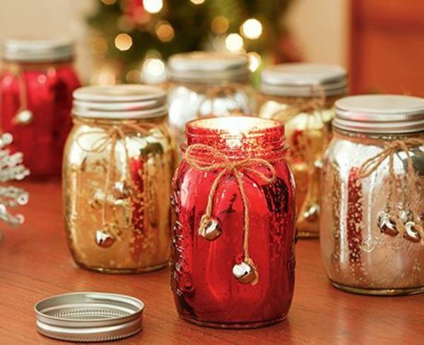 weihnachtsbastelideen weihnachtsbastelei weihnachtsdekoration basteln farbige gläser