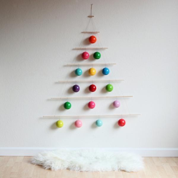 weihnachtsbastelideen weihnachtsdeko ideen wanddeko ideen