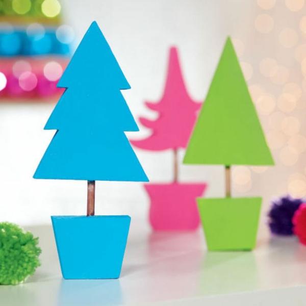 weihnachtsbastelideen weihnachtsdekoration basteln deko weihnachtsbaum