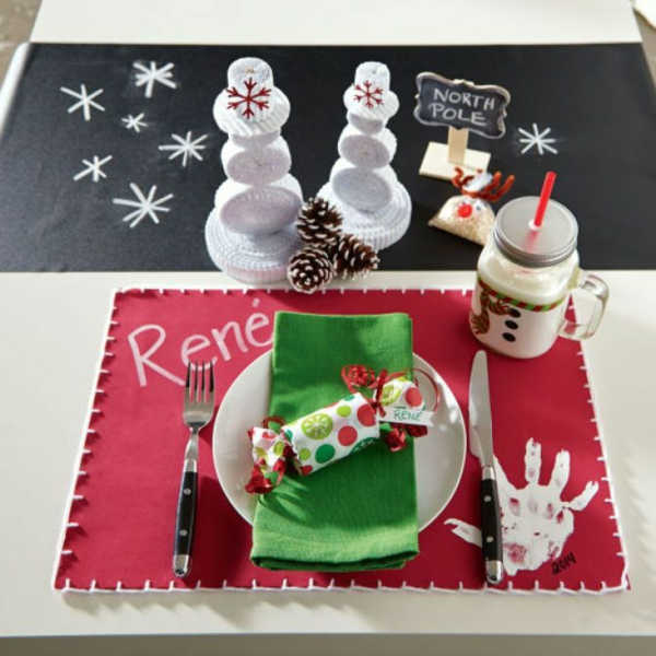 weihnachtsbastelideen weihnachtsdekoration basteln tischdeko ideen