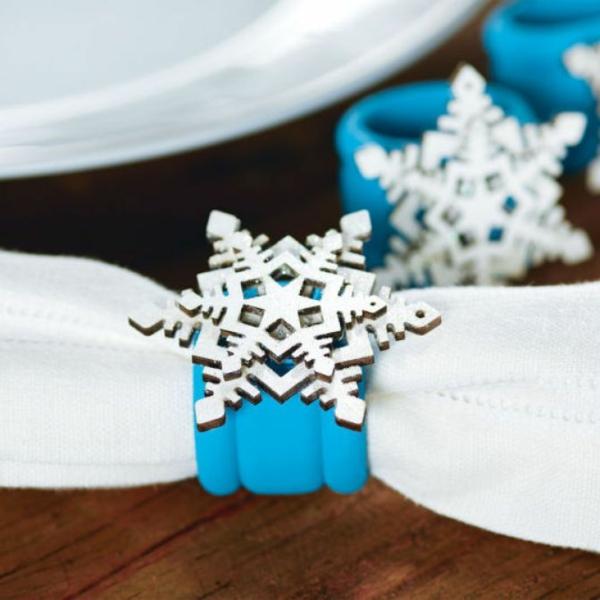 weihnachtsbastelideen weihnachtsdekoration basteln tischdeko serviettenring