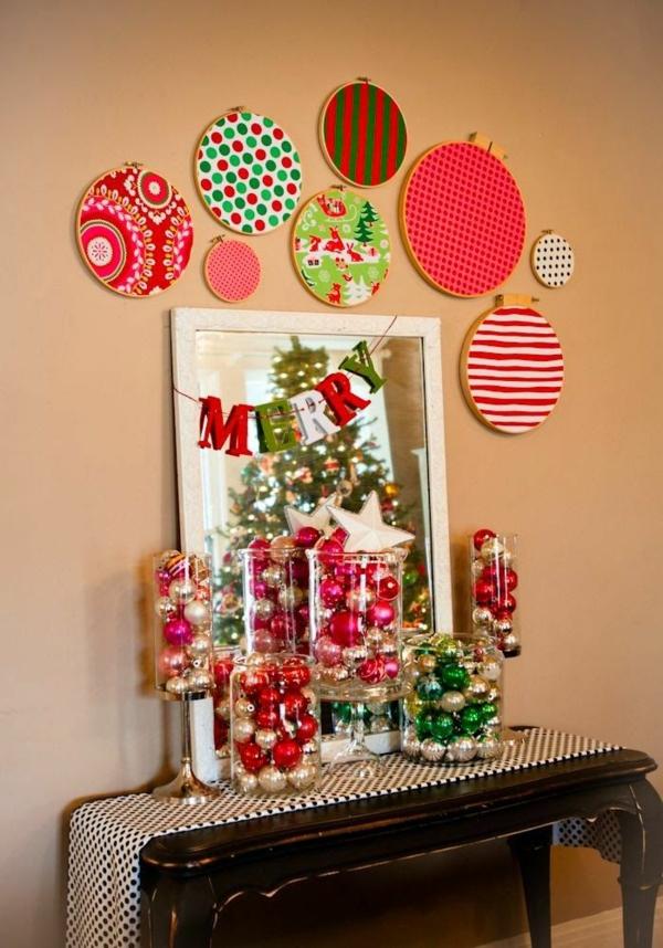 weihnachtsbastelideen weihnachtsdekoration basteln weihnachtsbastelleien wanddeko