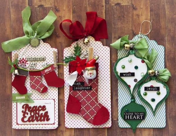 weihnachtsbastelleien weihnachtskarten basteln dekoideen weihnachten
