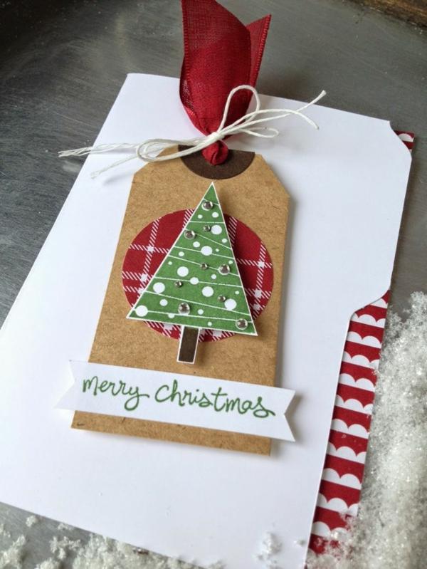 weihnachtsbastelleien weihnachtskarten basteln frohe weihnachten