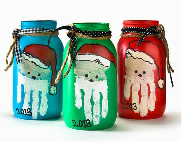 weihnachtsbasteln mit kindern bastelideen für weihnachten einweckgläser dekorieren