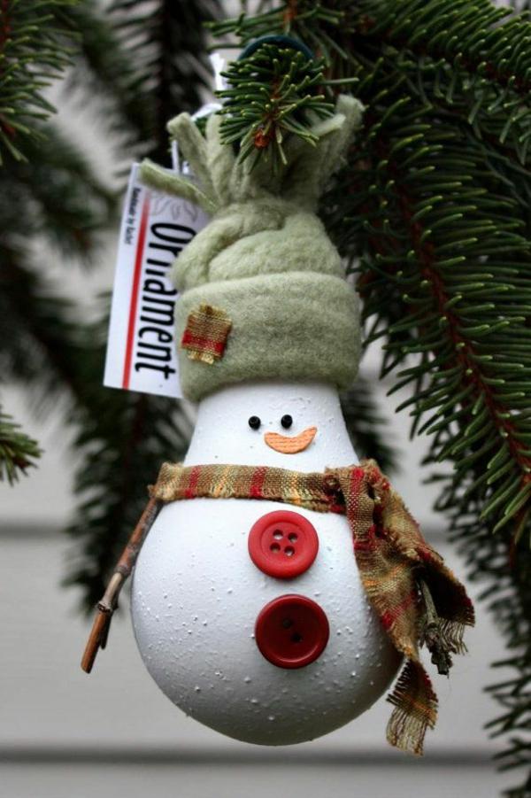 weihnachtsbasteln mit kindern bastelideen für weihnachten glühbirne knöpfe