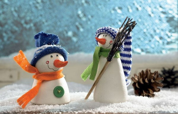 weihnachtsbasteln mit kindern schneemännchen weihnachtsbasteleien