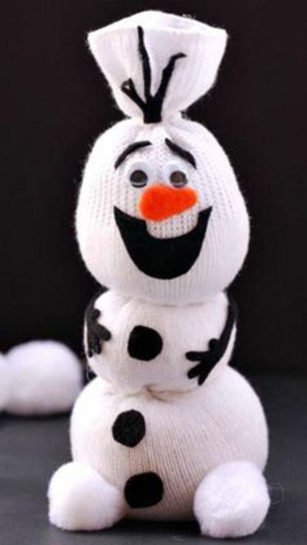 weihnachtsbasteln mit kindern schneemann olaf weihnachtsbateleien