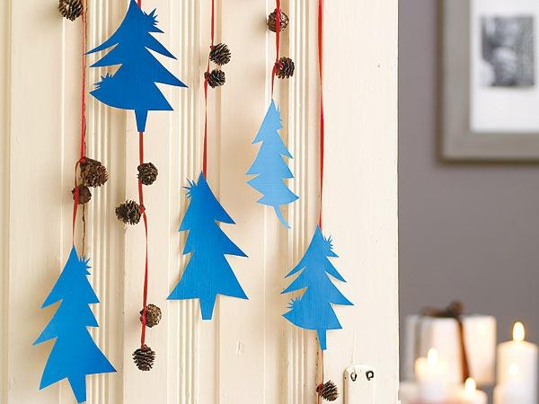 weihnachtsbasteln mit kindern tannen basteln mit papier