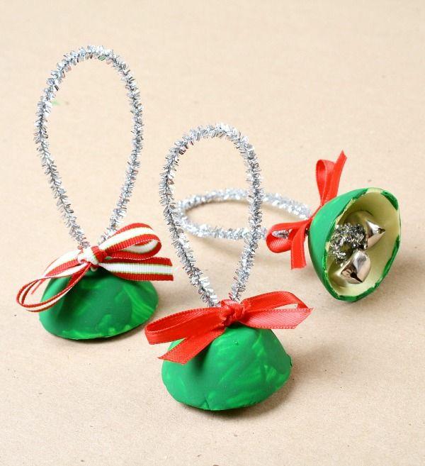 weihnachtsbasteln mit kindern weihnachtsglöcken weihnachtsbasteleien