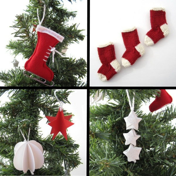 100 bastelvorlagen f r weihnachtsbaumschmuck - Weihnachtsbaumkugeln selbst gestalten ...