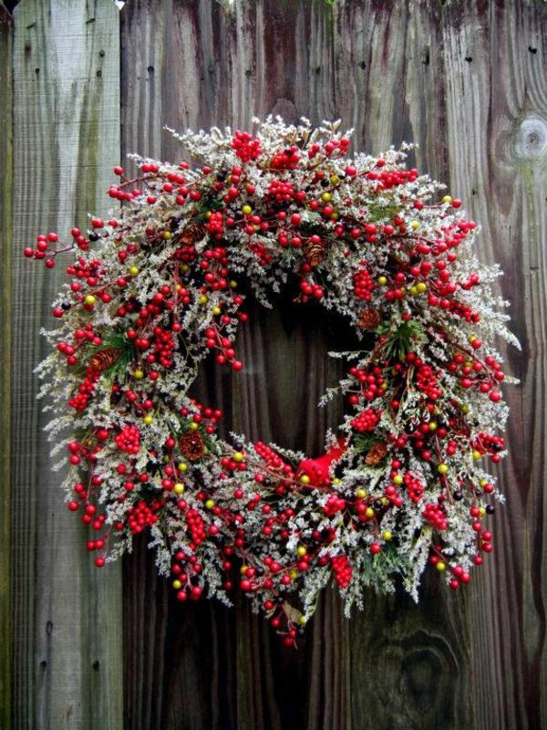 weihnachtsdeko basteln kranz herbstdeko ideen natürliche materialien