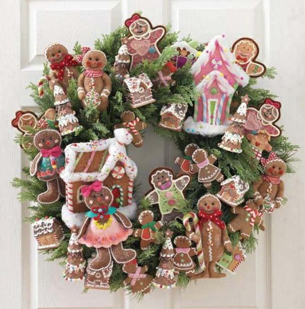 weihnachtsdeko basteln kranz weihnachtsplätzchen weihnachtsdeko basteln