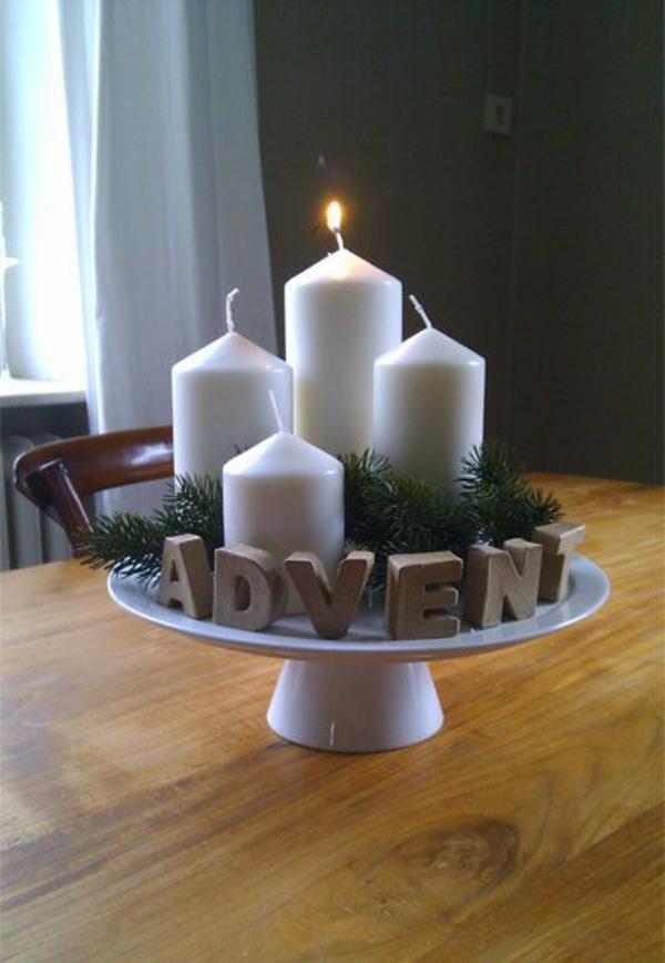 weihnachtsdeko selber basteln advent türkranz weihnachten