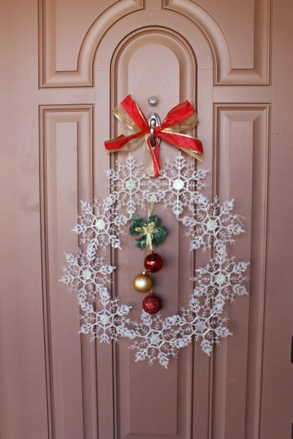 weihnachtsdeko selber basteln türkranz weihnachten