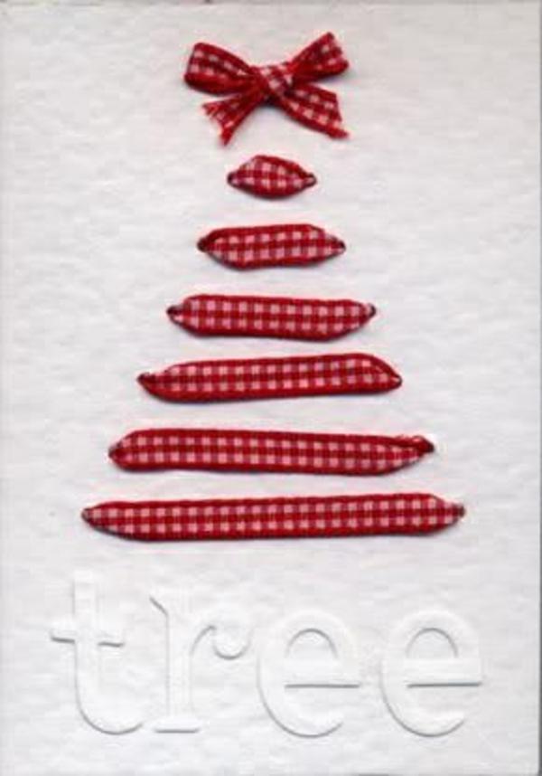 weihnachtsgeschenke basteln baum rot
