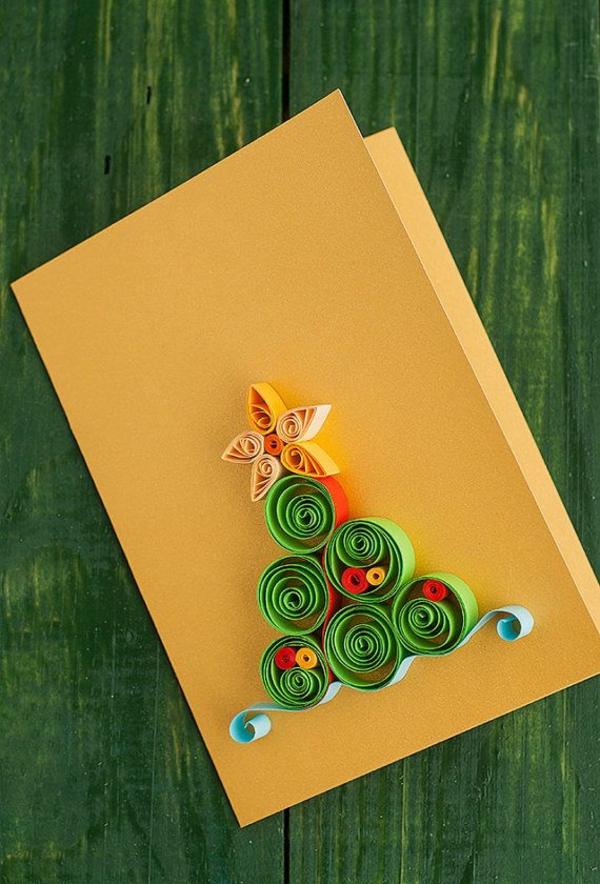 weihnachtsgeschenke basteln grün gewickelt papier