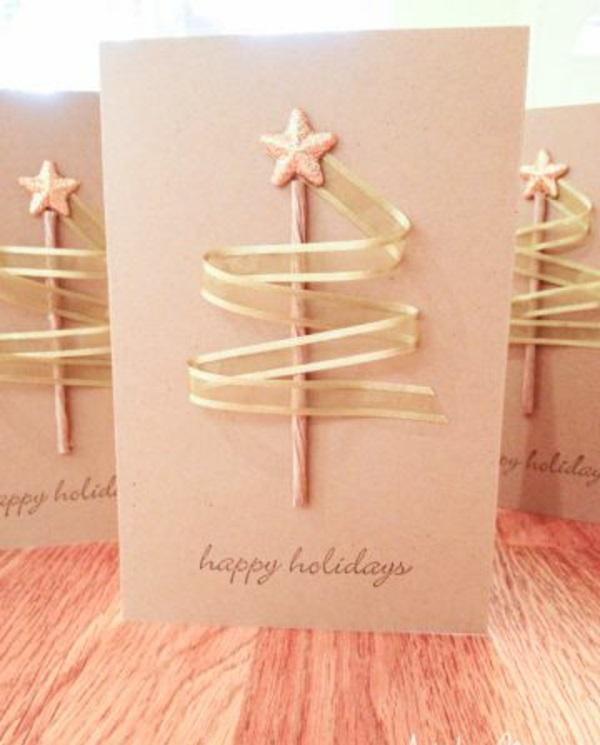 weihnachtsgeschenke basteln schleife golden
