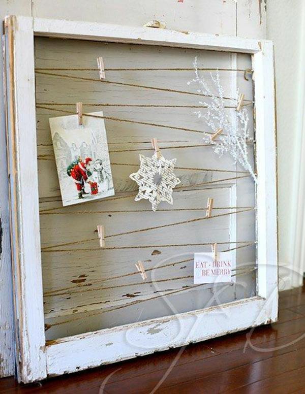 weihnachtskarten basteln vorlagen dekorativ fensterrahmen