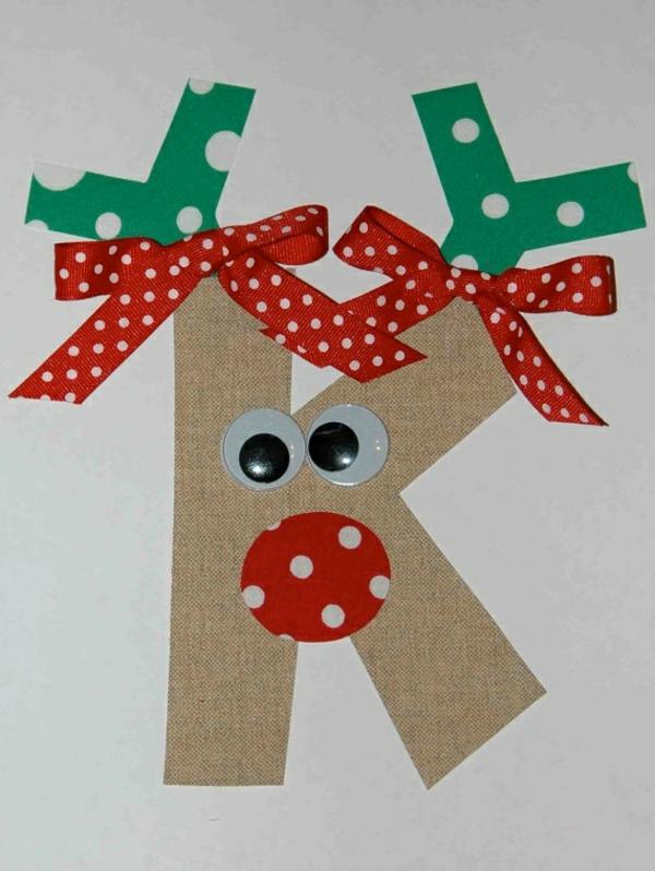 weihnachtskarten basteln weihnachtsbasteleien weihnachtshirsch