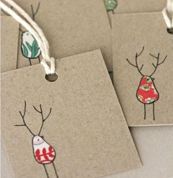 weihnachtskarten basteln weihnachtsbastelideen abstrakte weihnachtshirsche