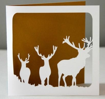 Weihnachtskarten basteln 50 kreative geschenkideen f r sie - Weihnachtskarten ideen ...