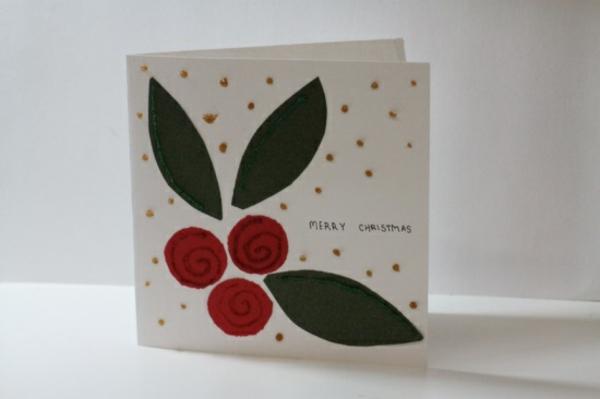 1001 ideen weihnachtskarten basteln tolle for Weihnachtskarten mit kindern basteln