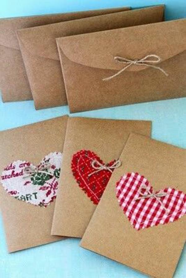 weihnachtskarten selber basteln ideen brief