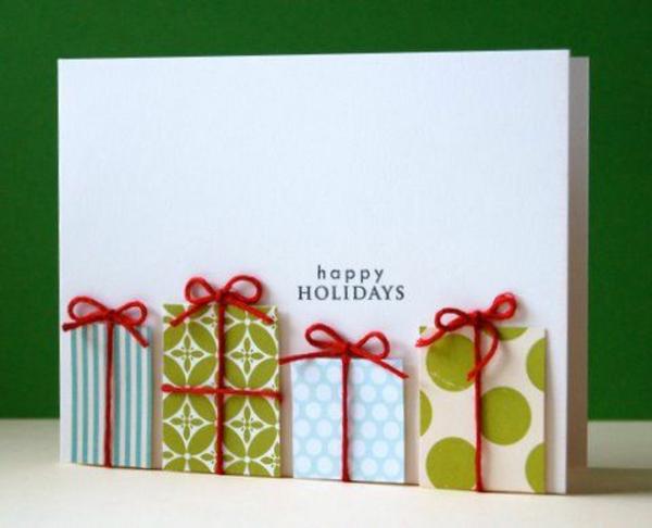 weihnachtskarten selber basteln ideen geschenke