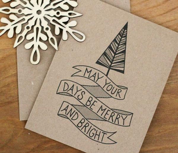 weihnachtskarten selber basteln ideen grafisch