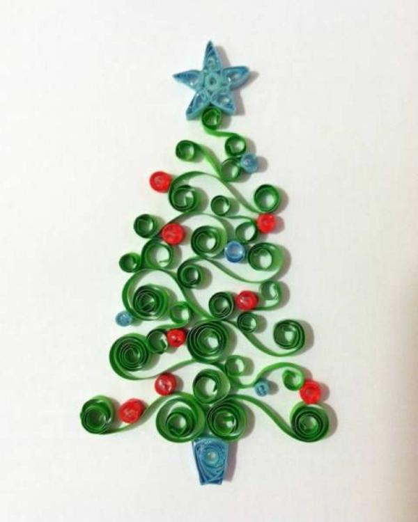 weihnachtskarten selber basteln ideen papier gewickelt