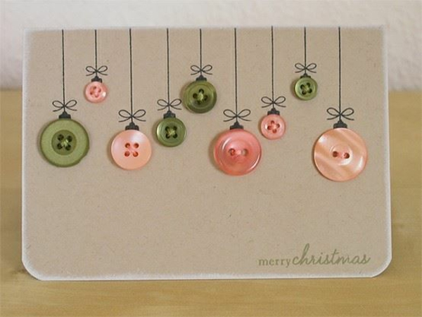 weihnachtskarten selber basteln ideen rosa grün