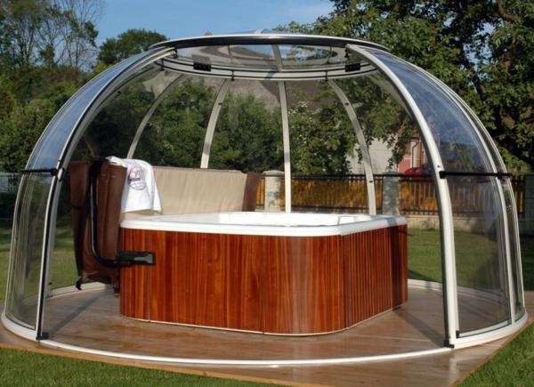 Affordable Whirlpool Im Garten Edles Holz With Jacuzzi Im Garten