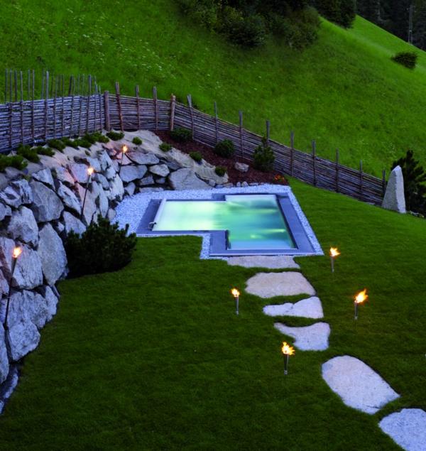 Whirlpool im garten g nnen sie sich diese besonde art entspannung - Gartengestaltung ideen mit natursteinen ...