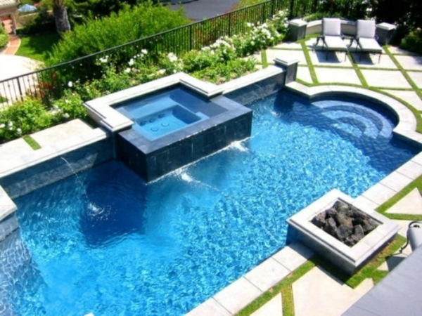 Whirlpool Im Garten inground pool with tub studio design gallery best design