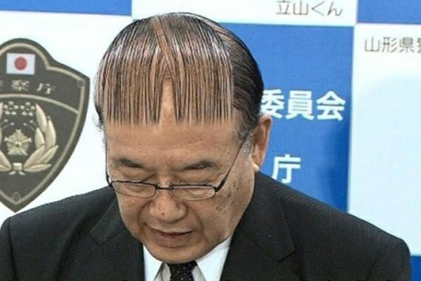 wild haarschnitt frisur mann lustig ausgedacht
