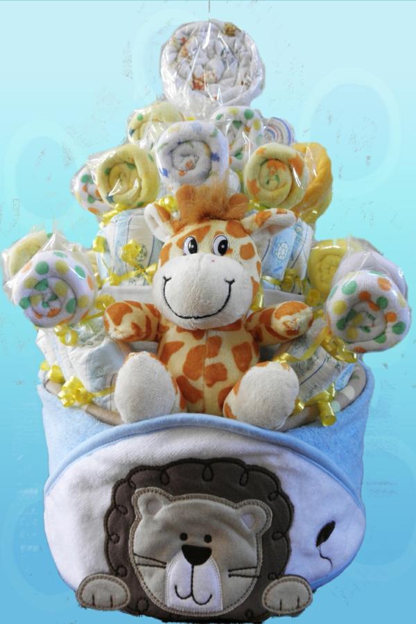 windeltorte basteln anleitung babygeschenke geburt lutscher