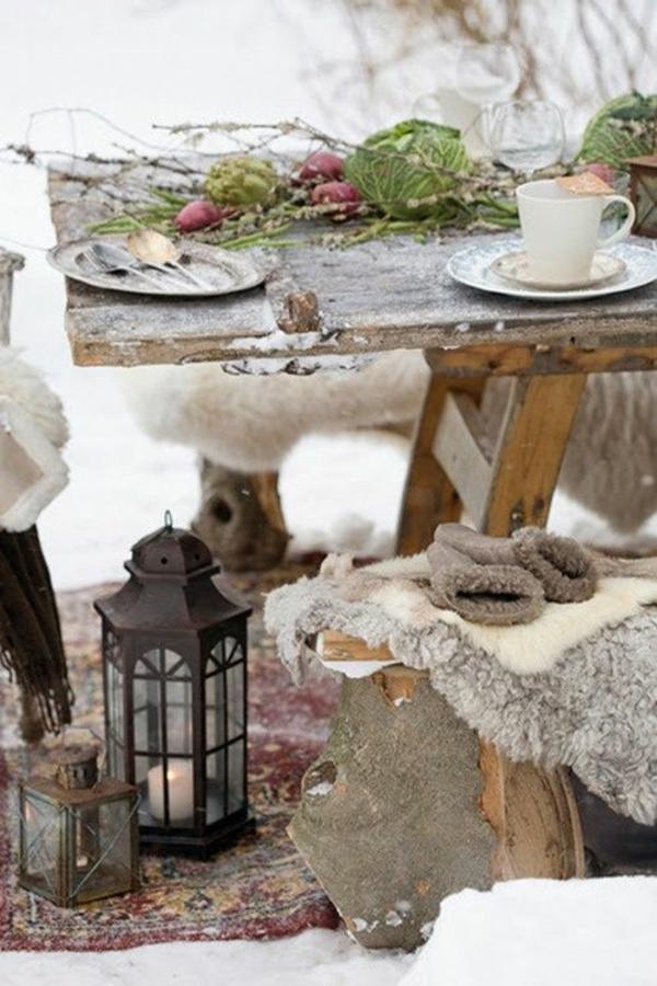 Gartenmobel Polster Bank : wintergarten einrichten gartengestaltung bilder gartenmöbel im winter