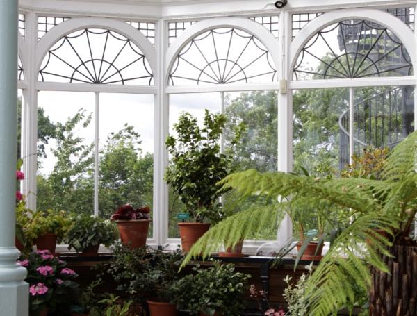 wintergarten selber machen arkadenfenster