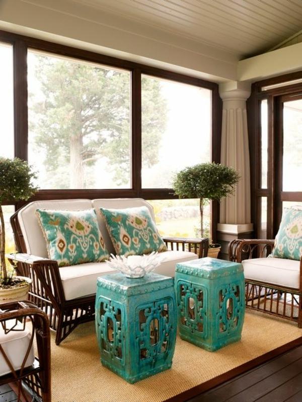 wintergartenmöbel veranda wintergarten rattan lounge möbel