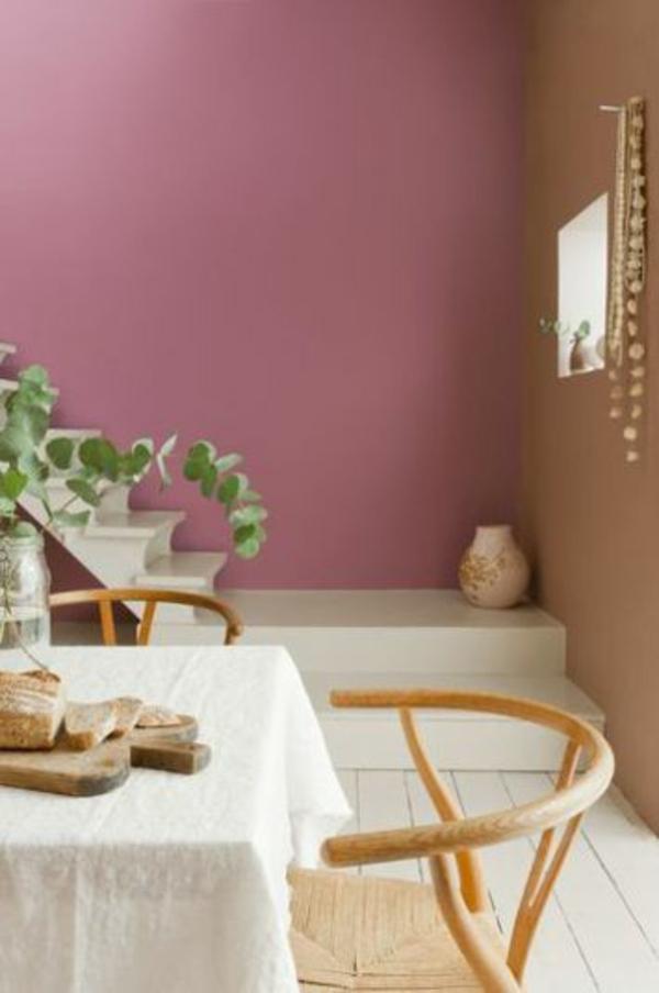 wohnzimmer altrosa:wohnideen für wohnzimmer farben wandgestaltung altrosa