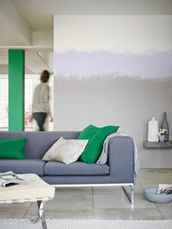 wohnideen fr wohnzimmer ombre farben wandgestaltung gemischt - Wohnzimmerfarben