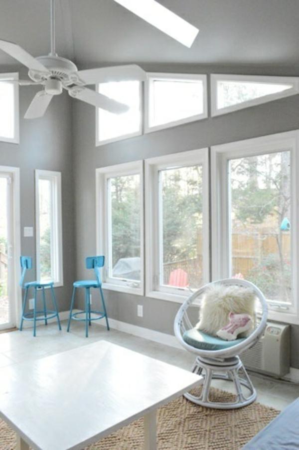 wohnzimmer farben grau streifen