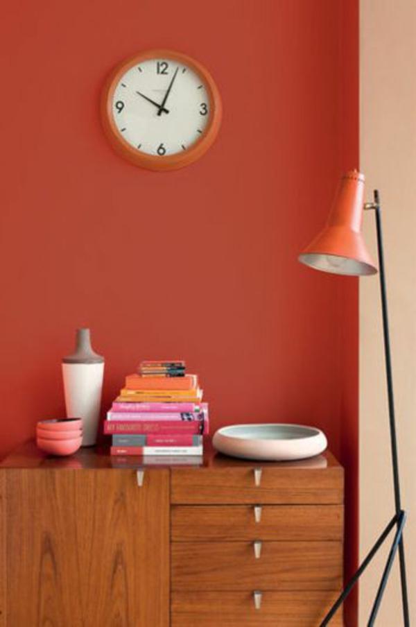 50 tipps und wohnideen für wohnzimmer farben - Wandgestaltung Wohnzimmer Orange