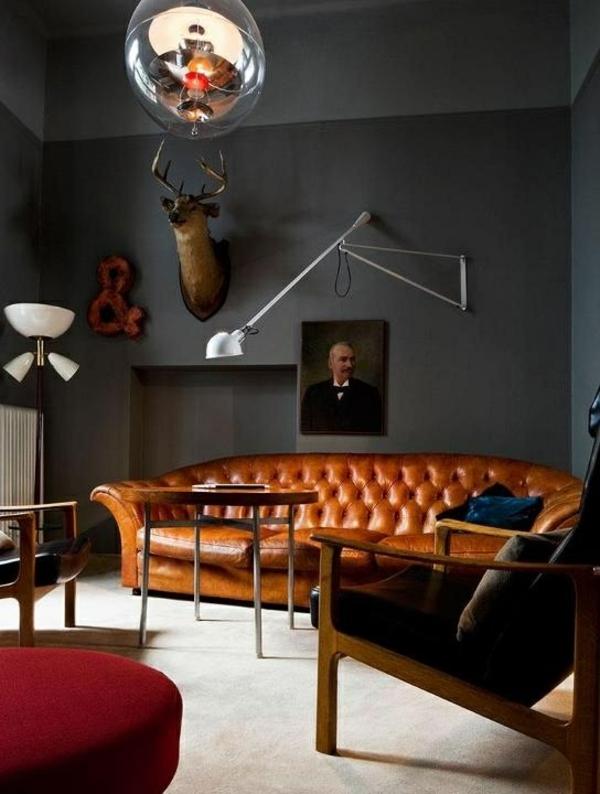 50 tipps und wohnideen für wohnzimmer farben - Wohnzimmer Orange Schwarz