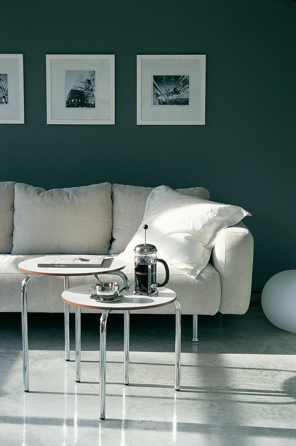 wohnideen wohnzimmer farben wandgestaltung sofas kissen - Wohnzimmer Farben Design