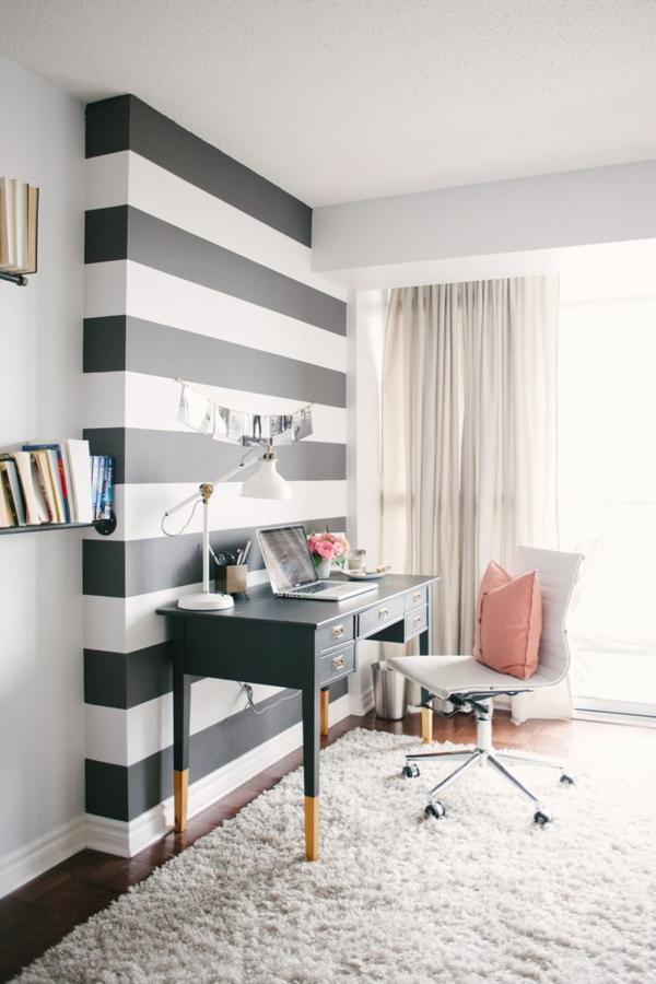 ... klassisch blickfang wohnzimmer farben wandgestaltung streifen