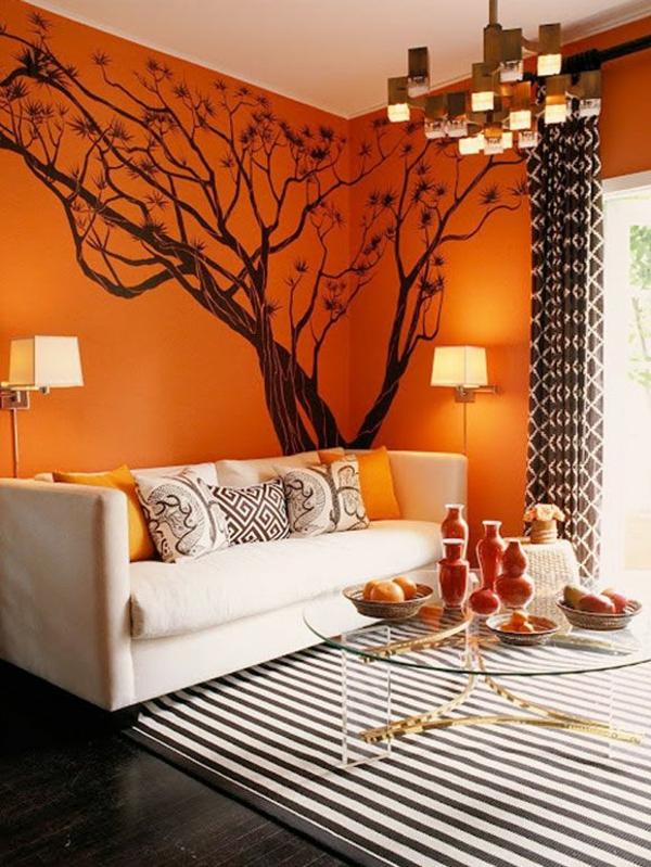 50 Tipps Und Wohnideen Für Wohnzimmer Farben Farben Wand Ideen Braun
